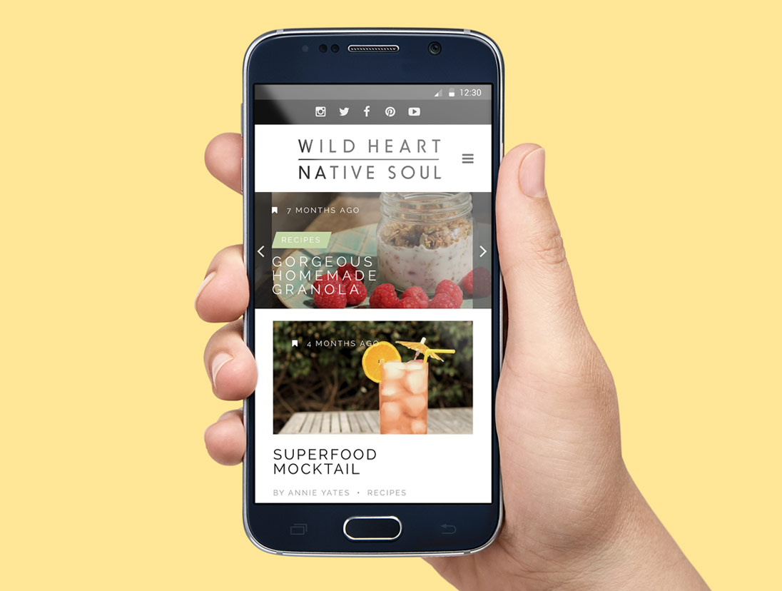 Wild Heart Native Soul Website Design