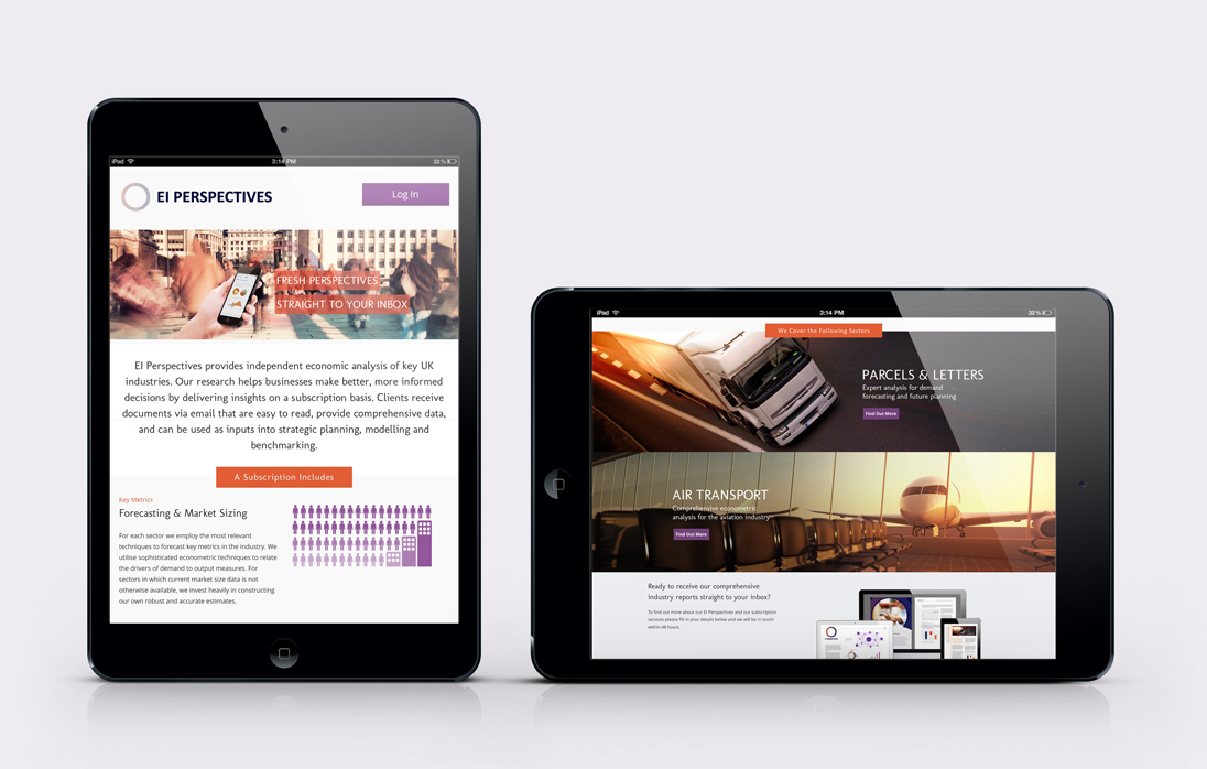 EI Perspectives Responsive Website Design