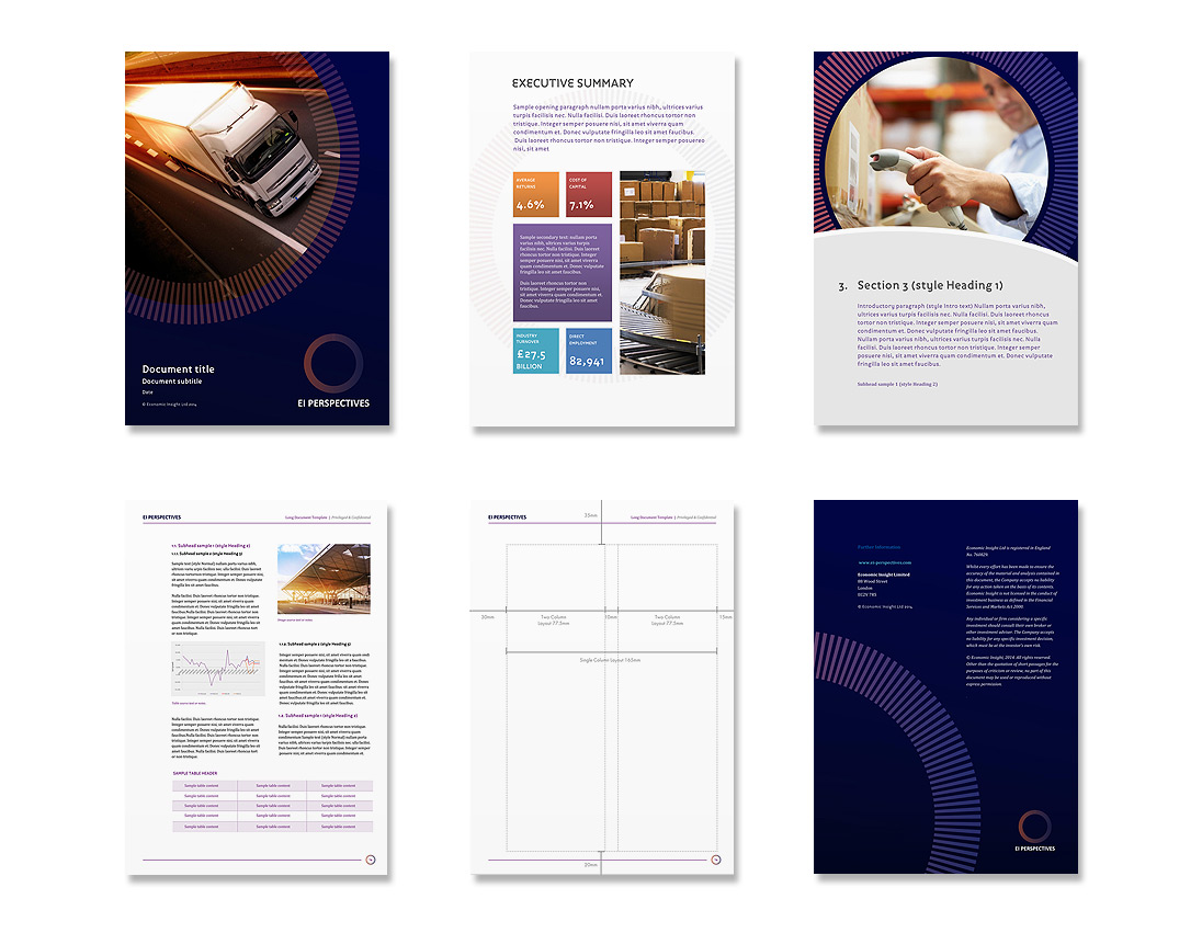 EI Perspectives Microsoft Office Template Design