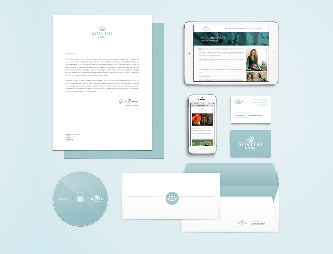 Savitri Yoga Business Stationery Design