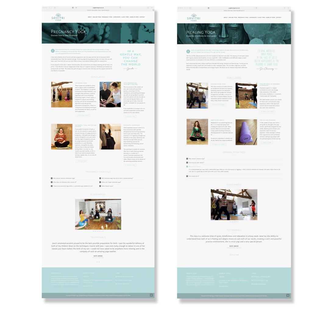 Savitri Yoga Responsive Website Design