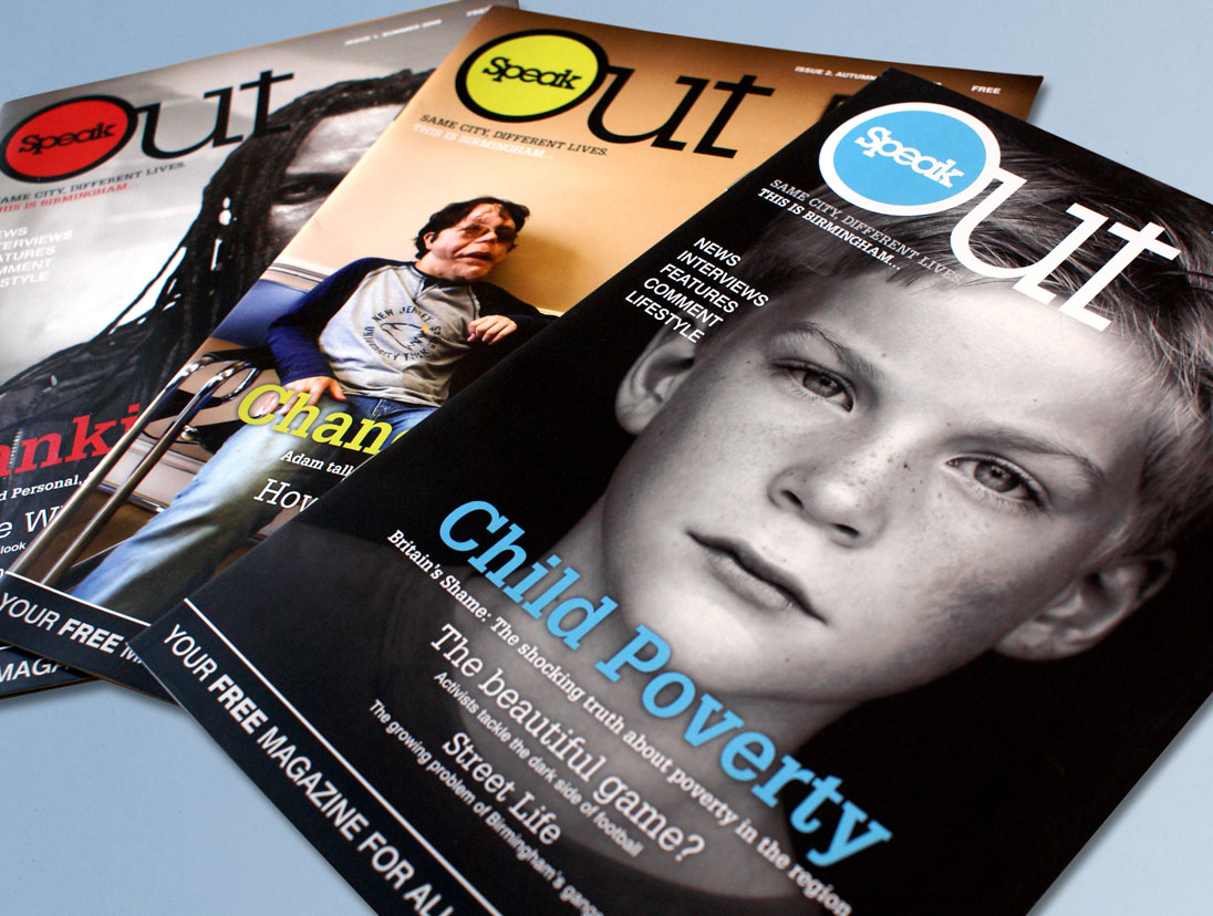 Speak Out Magazine Design