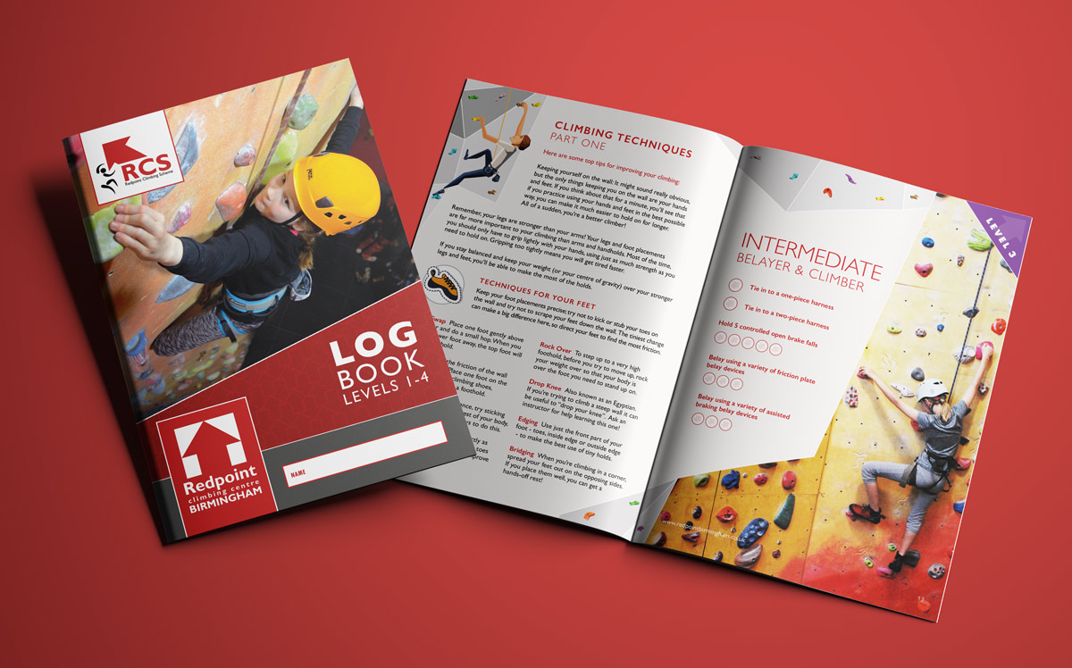 Redpoint Climbing Centre Logbook Design