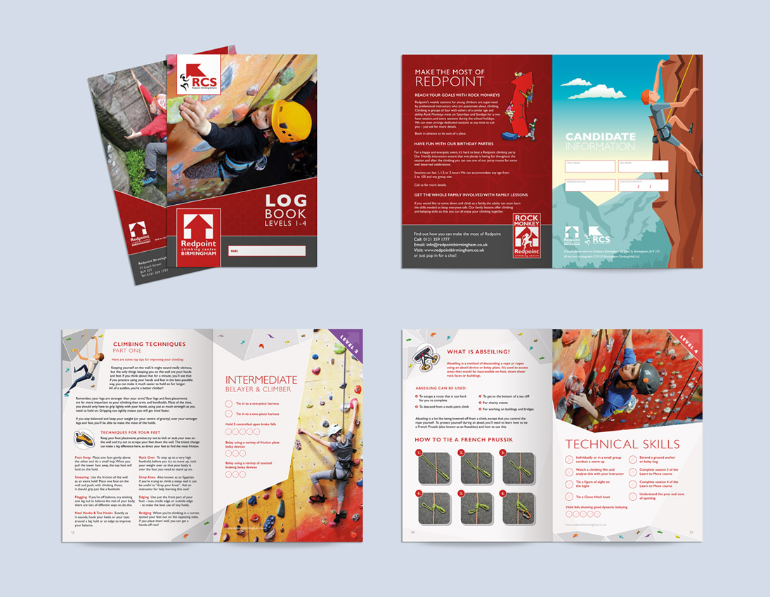Redpoint Climbing Log Book Design